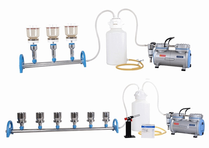 Manifold Vacuum Filtration Systems, 3 and 6 Position MultiVac 310-MS