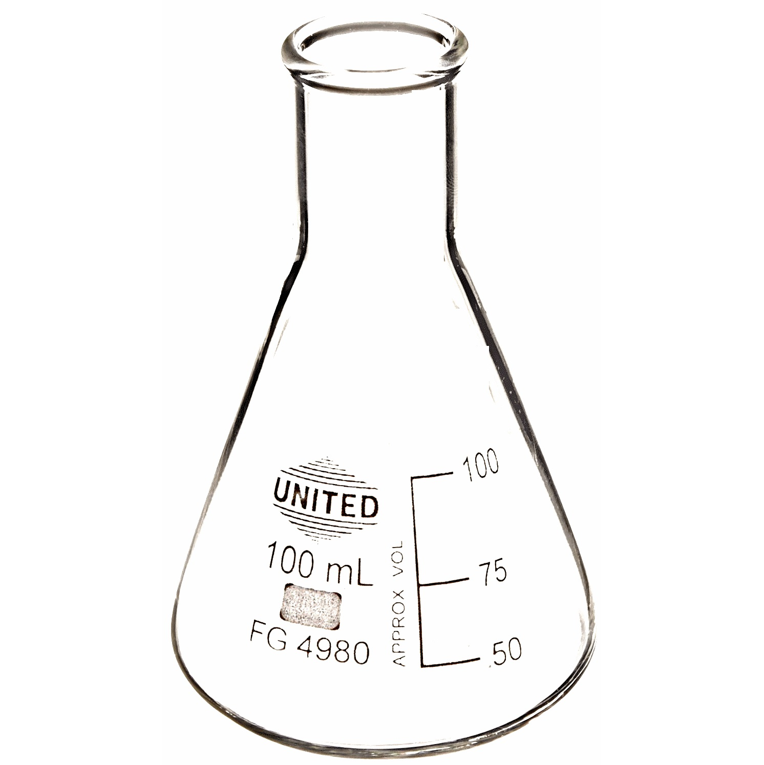 laboratory aids glass erlenmeyer narrow and wide mouth flasks